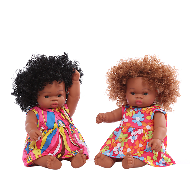 Supplier selling Black doll Lifelike African dolls Baby toys Vinyl silicone reborn baby dolls