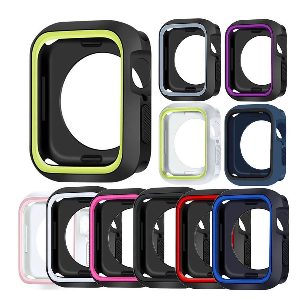 הלם הוכחה מגן סיליקון Case כיסוי עבור אפל שעון iWatch סדרת 4/3/2/1 סיליקון מקרי
