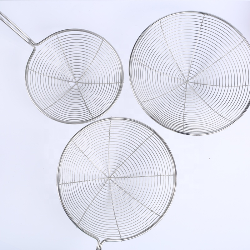 New Arrived Stainless Steel Kitchen Skimmer Wire Mesh Steel Colander Strainer