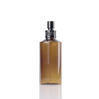 amber plastic cosmetic containers 50ml 100ml 150ml 200ml plastic bottle 250ml 300ml pet lotion pump bottle with aluminum pump
