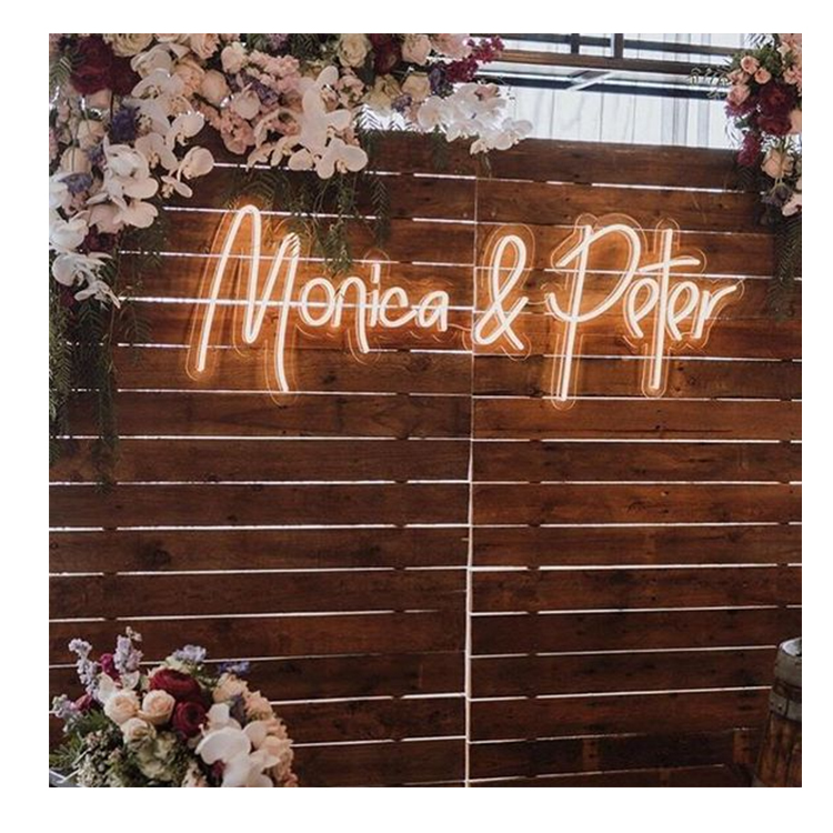 Party parks light letter led neon lights with usa plug