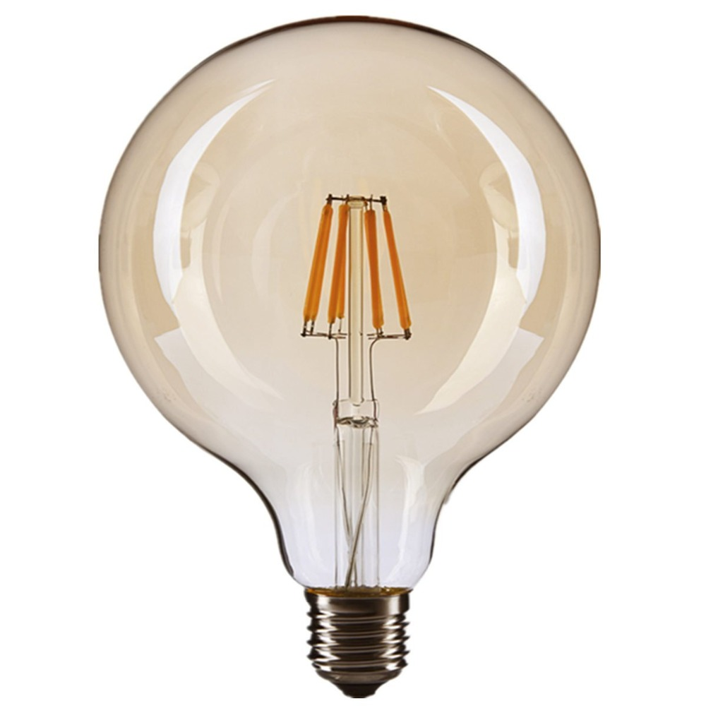 Factory Direct Supply Tuya Edison Filament ST64 Amber Glass Led Globe E27 WiFi Filament Bulb