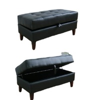 Hot selling Leather Sofa Stool Hotel Luggage Stool Bed End Ottoman With Storage