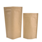 Zhongbao Manufacturer Kraft Stand Up Pouches with an Oval Window Wholesale