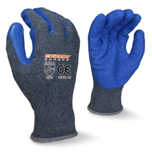 Cotton knitted gloves with latex palm coating for industrial use