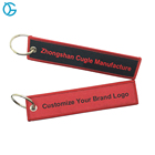 Wholesale Cheap Design Custom Flight Brand Name Logo Embroidery Keychains
