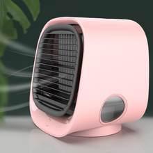 Мини портативный кондиционер вентилятор настольный стол увлажнитель очиститель USB Настольный воздушный охладитель вентилятор с баком для ...(Китай)