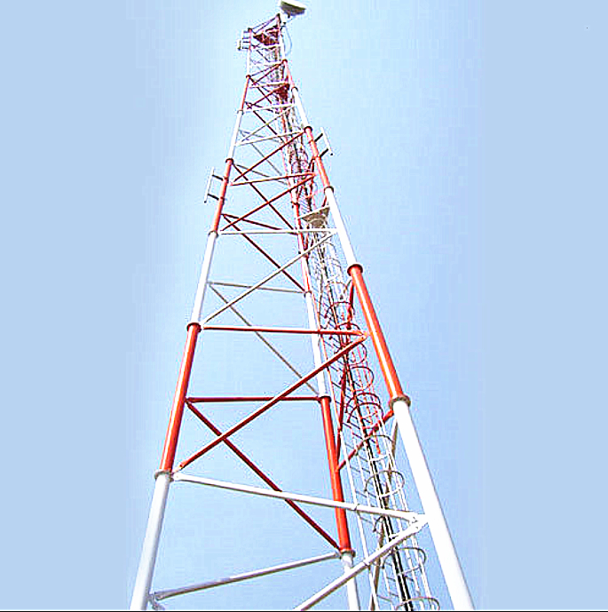FangHua Galvanized Triangular Mobile Antenna Mast Guyed Wire Supporting Guard Towers