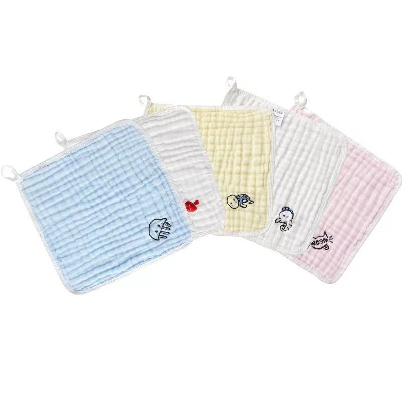 100% organic cotton soft swaddle washcloth  baby muslin face towel