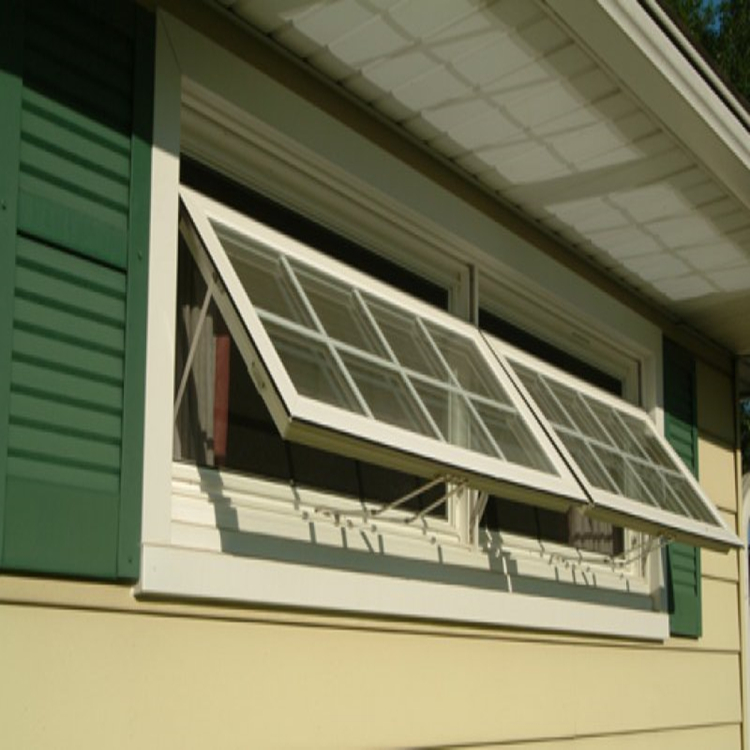 Aluminum Awing Window Top Hung Style With Handle Hardware Passed AS2047 Australian Standard