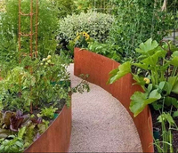 Garden furniture corten steel retain wall / planter
