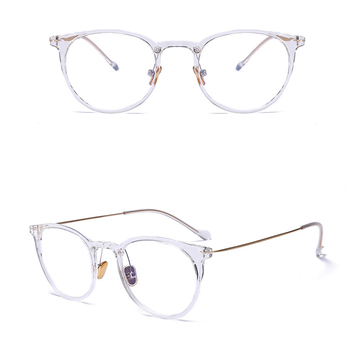 Fashion Korean Retro Clear Myopia Glasses Frames Lightweight Lentes Tr90 Frame Optical Glasses