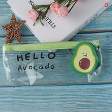 Школьный пенал авокадо, прозрачный пенал, школьные принадлежности, Канцтовары, 1 шт.(Китай)