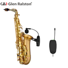 Glen Ralston Instrument microphone UHF Wireless for saxophone, trumpet, clarinet, horn microphone