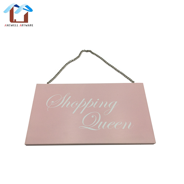 Home decoration custom letter wooden signs plaques wall door hanging wood plaque board