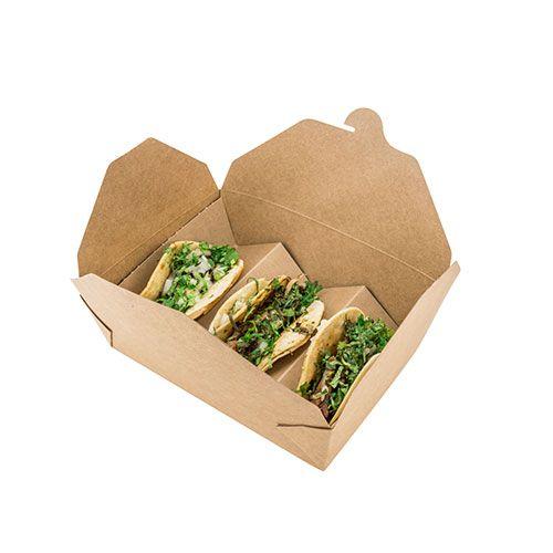 생분해 성 맞춤형 테이크 일회용 종이 타코 음식 포장 상자