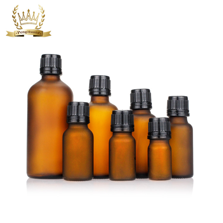 5ml 10ml 15ml 20ml 30ml 50ml 100ml Amber Hot Stamping Empty Glass Dropper Essential Oil Bottle