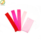 pink training latex rubber resistance band