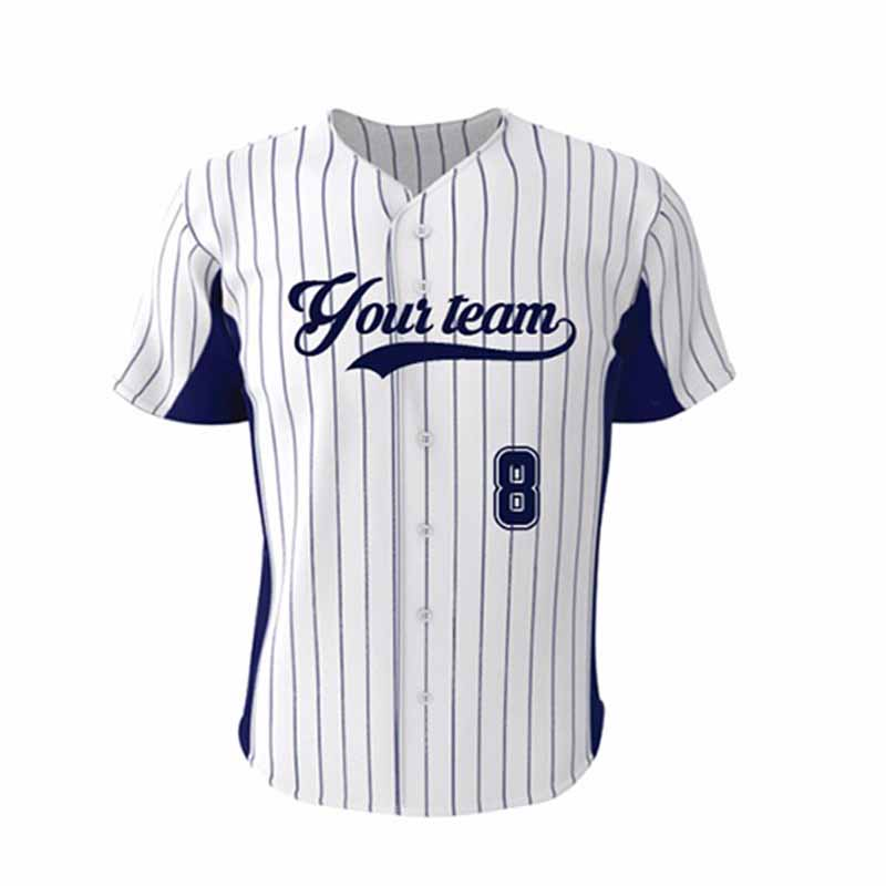 Jeugd Honkbal Jersey Sublimatie Custom Quick Dry heren Baseball shirt