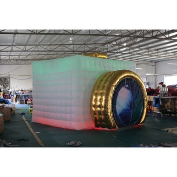 camera shape led lighting inflatable photo booth for sale