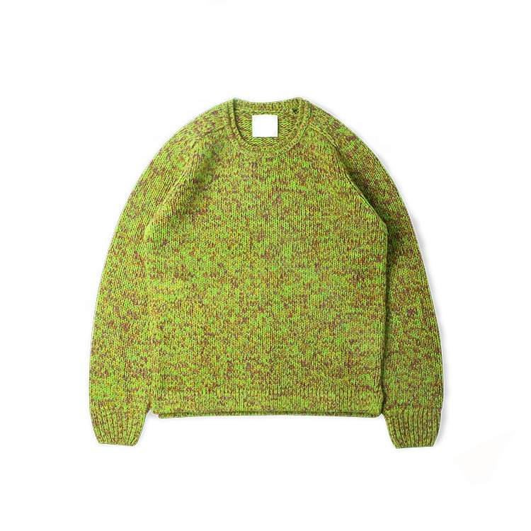 fashion unisex men wool cashmere crew neck loose sweater
