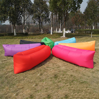 Easy Open Outdoor Camping Inflatable Lounger Air Chair Lazy Sofa Bed With Carry Bag