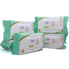 Noesa Baby Wet Wipes Pure Cotton Organic private label no alcohol biodegradable made in China