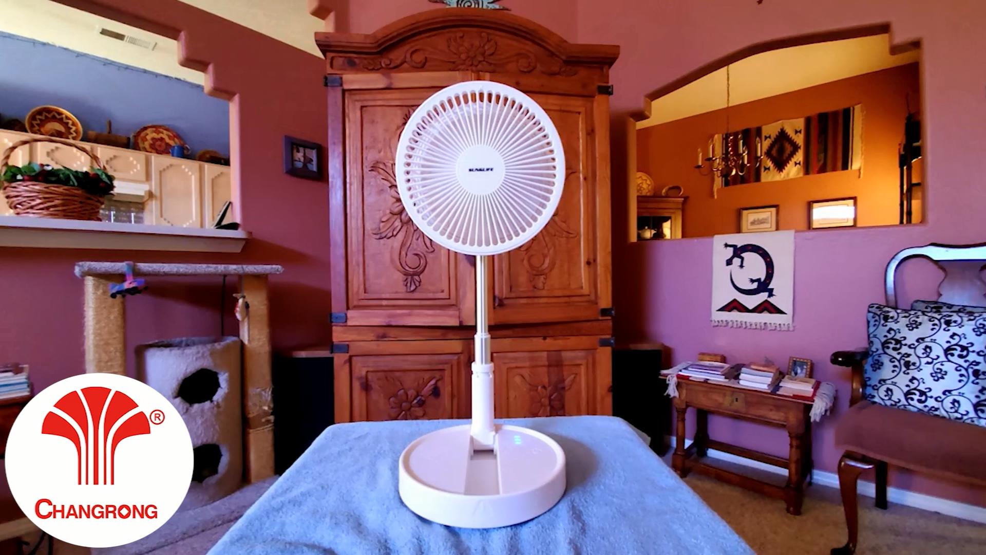 2020 mini fan dc small easy battery charging table fan electric fan