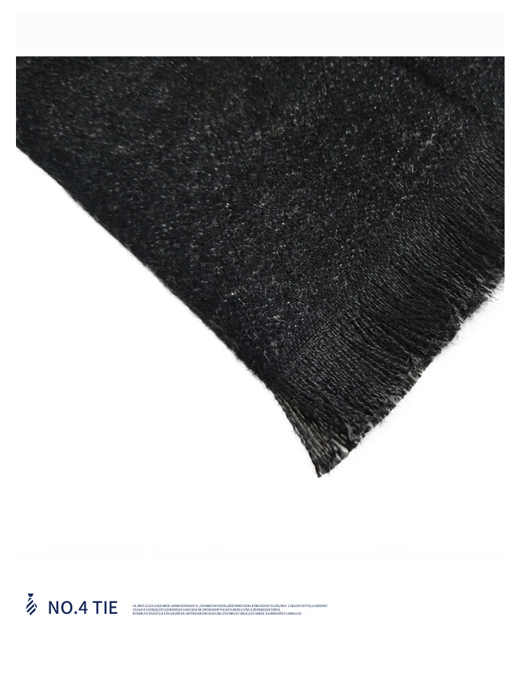 New hot elegant black and white gray men's winter double scarf pocket