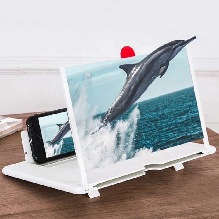 12inch HD Mobile Phone Screen Magnifier, Foldable 3D Pull-Out Phone Screen Amplifier for All Smartphones