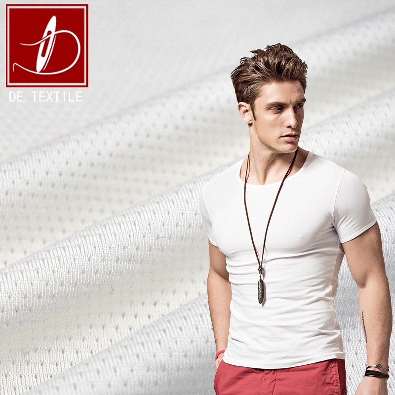 Diyi Textiel 100% Polyester Driehoek Mesh Jacquard Stof Voor Basketbal Shirt