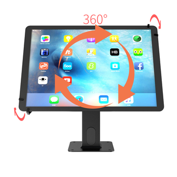 Universal adjustable anti-theft tablet display stand holder