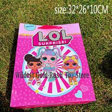 Оригинальная карманная сумка для хранения, сумка для покупок из нетканого материала, игрушки для детей 34*27 см(Китай)