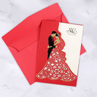 Nepali marriage invitation card korean / myanmar / chinese customised wedding invitation card