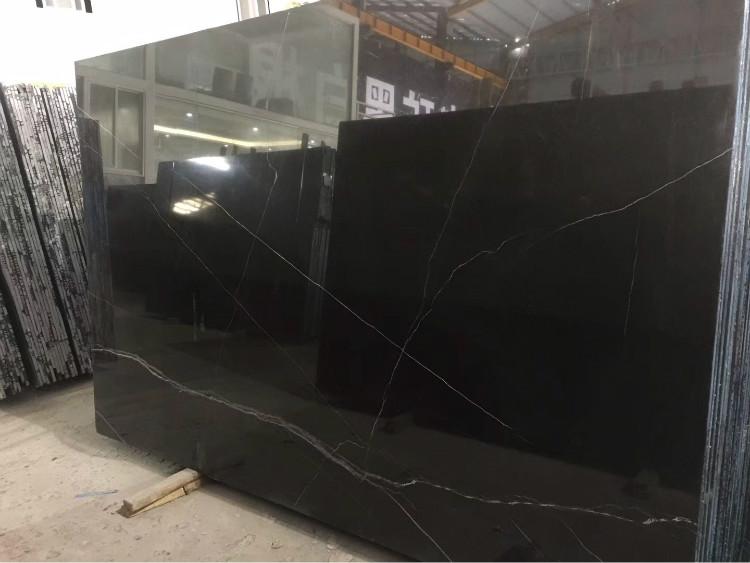 Harga Rendah Hitam Putih Batu Marmer Emas Marquina Aziza 60X60 Marmer Ubin