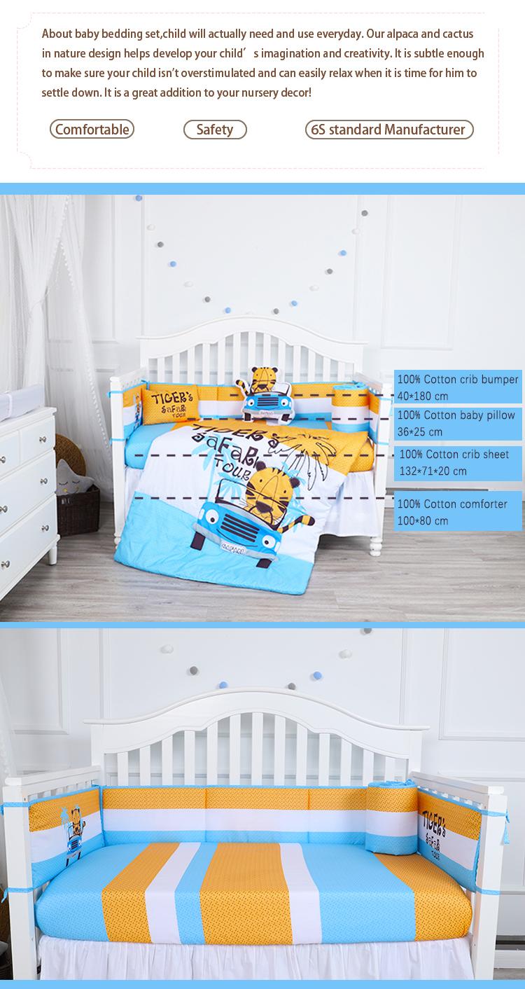 100 Cotton Cot Bed Set Carton Design Tiger Baby Boy Crib Bedding Set Buy Crib Bedding Set Crib Bedding Set Baby Boy Bedding Product On Alibaba Com