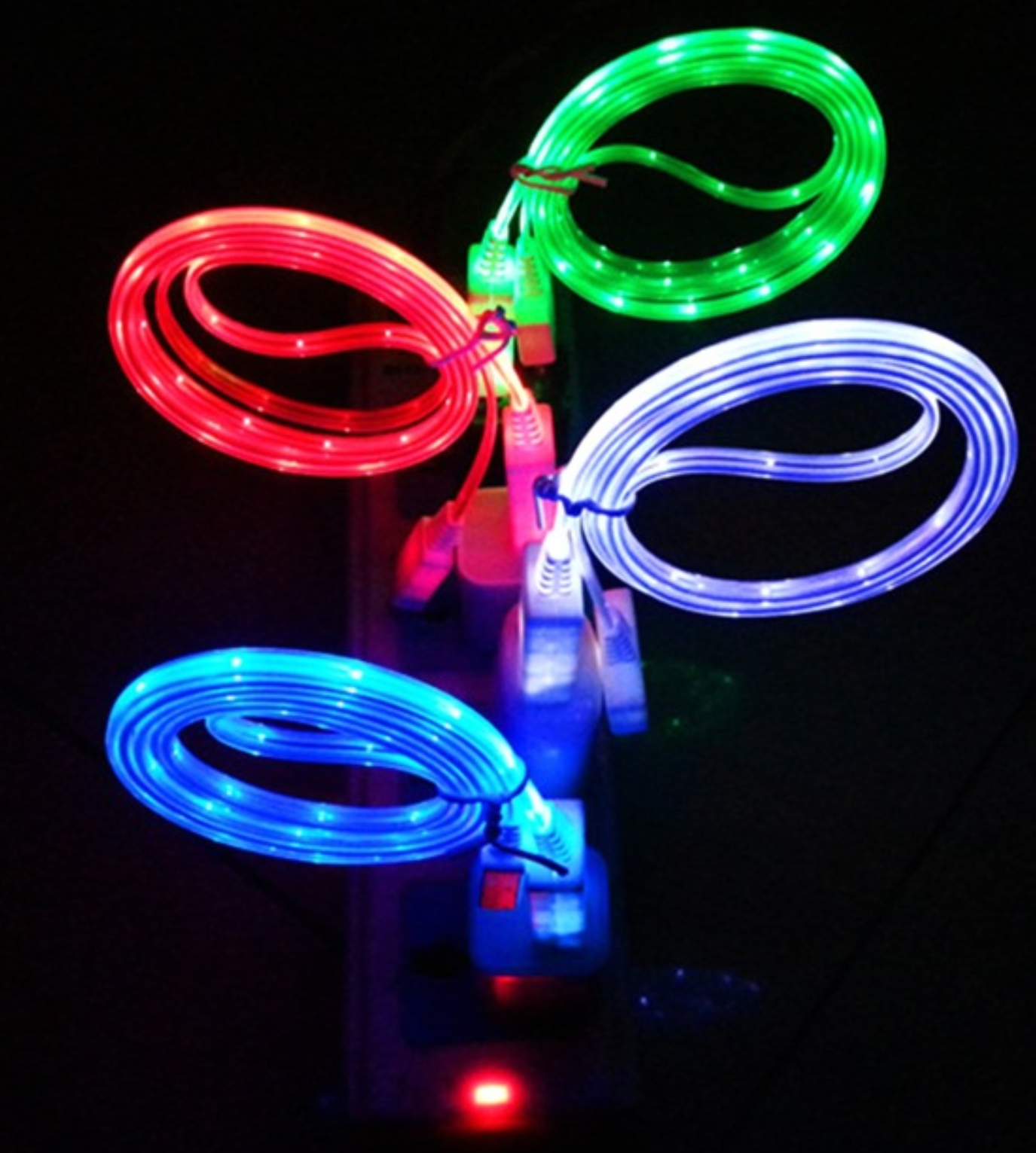 DG Flowing Magnetic Charger Cable Light Up Shining Phone Charging Cable Snap Quick Connect 3 in 1 For Micro Type C 8 Pin