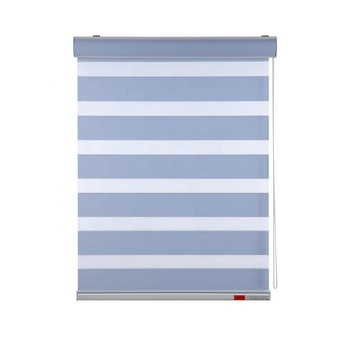 Modern Design High Quality Horizontal Blackout White Double Layer Day And Night Blinds Windows Zebra Roller Blinds