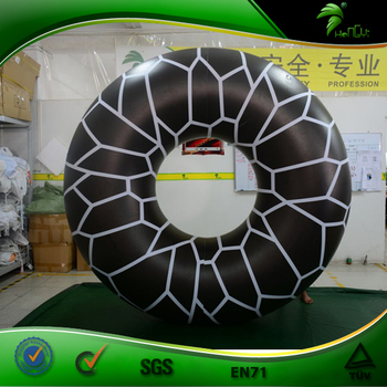 Floating Inflatable Swimming Ring Hongyi Giant Black Inflatable Rings