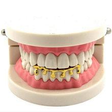 Новый стиль зубные грили перегородка металлическая поддельная перегородка трендовые золотые зубы загвоздка пирсинг 1 шт. Геометрическая п...(Китай)