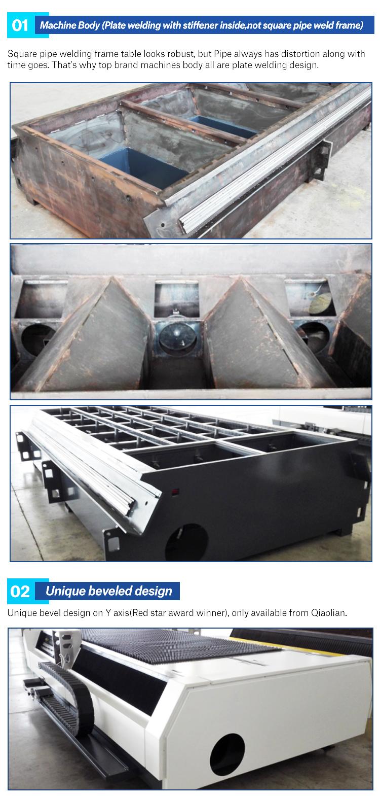 700 W, 1kw, 1500 w, 2kw, 3kw, 4kw, 6kw, 12kw fibra laser macchina di taglio con IPG, Raycus potenza