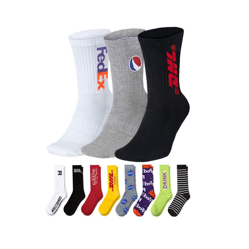 Sox — chaussettes de sport et d'athlétisme pour hommes, personnalisées, blanches et noires, 100% coton, pour couple, basket-ball, mode OEM, vente en gros
