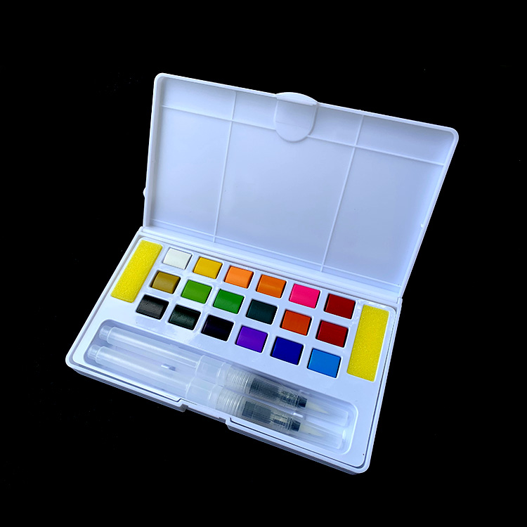 Factory Direct 24 Colors professional watercolor paint set with portable box