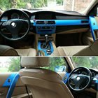 Car-Styling New 5D Carbon Fiber Car Interior Center Console Color Change Molding Sticker Decals For 5 Series E60 2004-2010