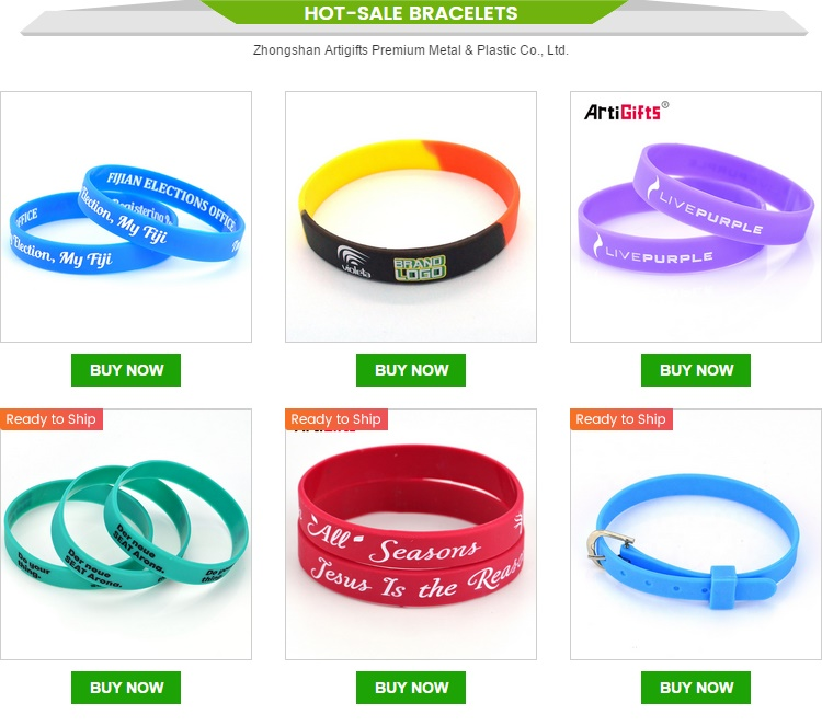 Top quality favorable price wristbands custom customizable sport bracelet