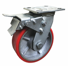 Promotional new 6 inch anti-static 1 ton heavy duty pu caster wheel Universal cast iron casters