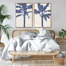 Vintage Palm Banana Tree Art Botanische <span class=keywords><strong>Illustratie</strong></span> Antieke Plant Print Tropische Palm Print Art Set