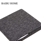 Home Cushion Pad Seat American Style Square 100% Polyester Removable Memory Foam Black Chair Cushion Seat Pad
