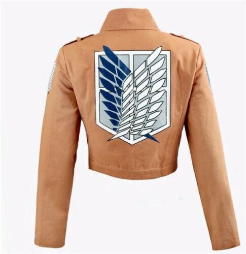 Ecoparty Deluxe Attack on Titan Costume Set Jacket Cape Belt Shingeki No Kyojin Cosplay