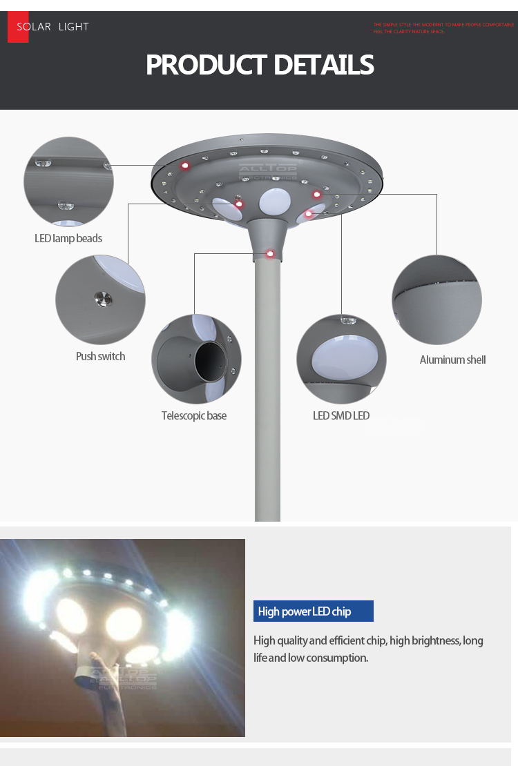 ALLTOP solar led lamp post light-15